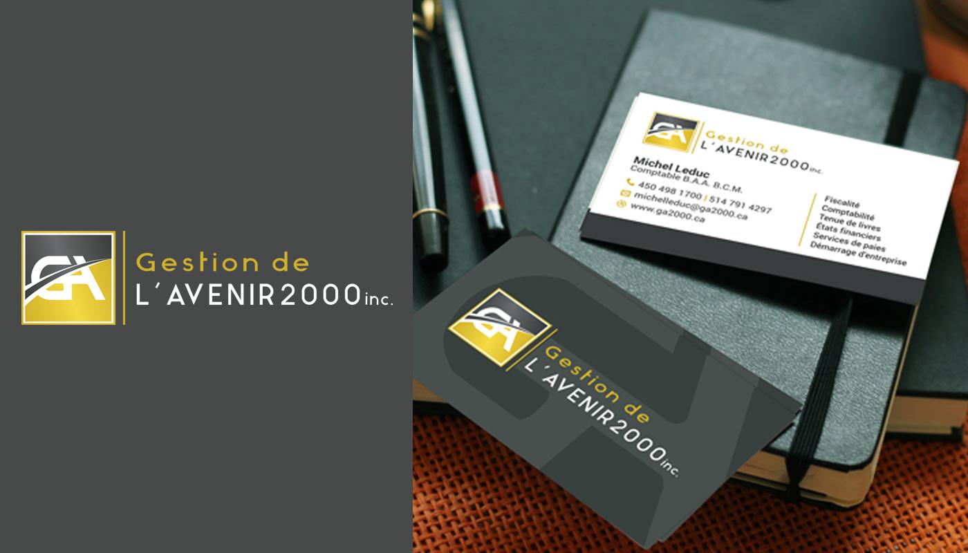 logotype et cartes d'affaire bureau comptable