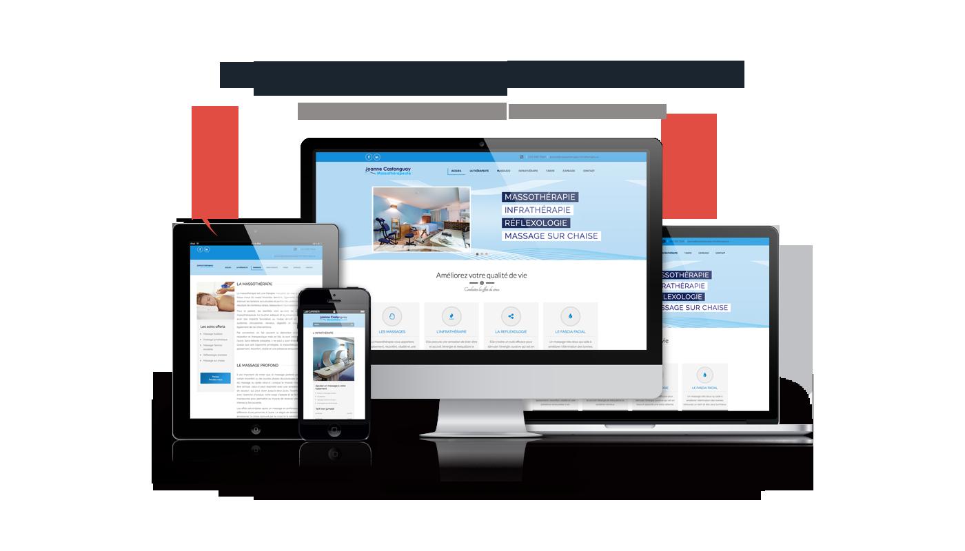site internet massothérapie infrathérapie montréal