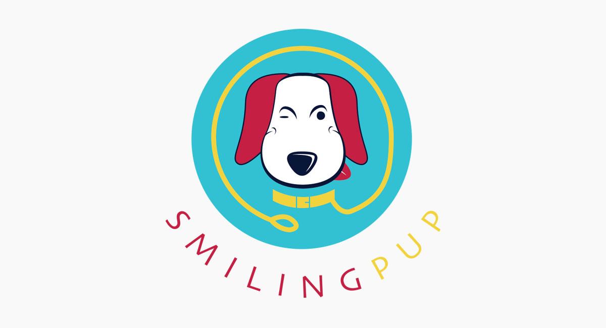 Smiling pup Logotype